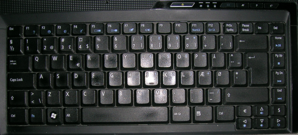 acer 5510 keyboard layout (danish)